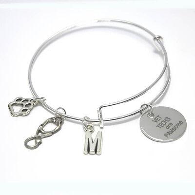 Never Give Up Charm Bracelet Graduation Gift Expandable Bangle
