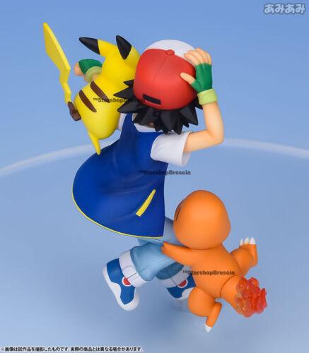 POKEMON Ash /& Pikachu /& Charmander Pvc Figure G.E.M Megahouse