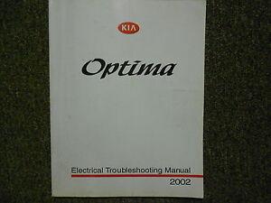 2002 KIA Optima Electrical Troubleshooting Service Shop Repair Manual Factory x