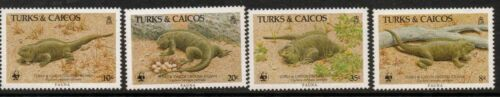 TURKS & CAICOS IS. SG88891 1986 IGUANA MNH