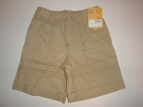 Carter/'s Peached Canvas Woven Khaki Shorts ~ Size 3T ~ New With Tags