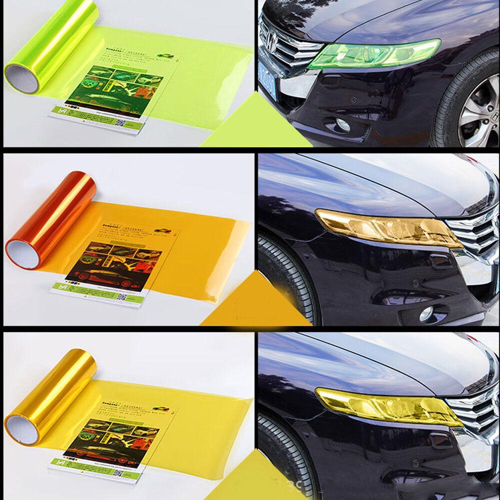 Car Headlight Taillight Fog Light Sticker Tint Protector Film Vinyl Wrap Decals 2