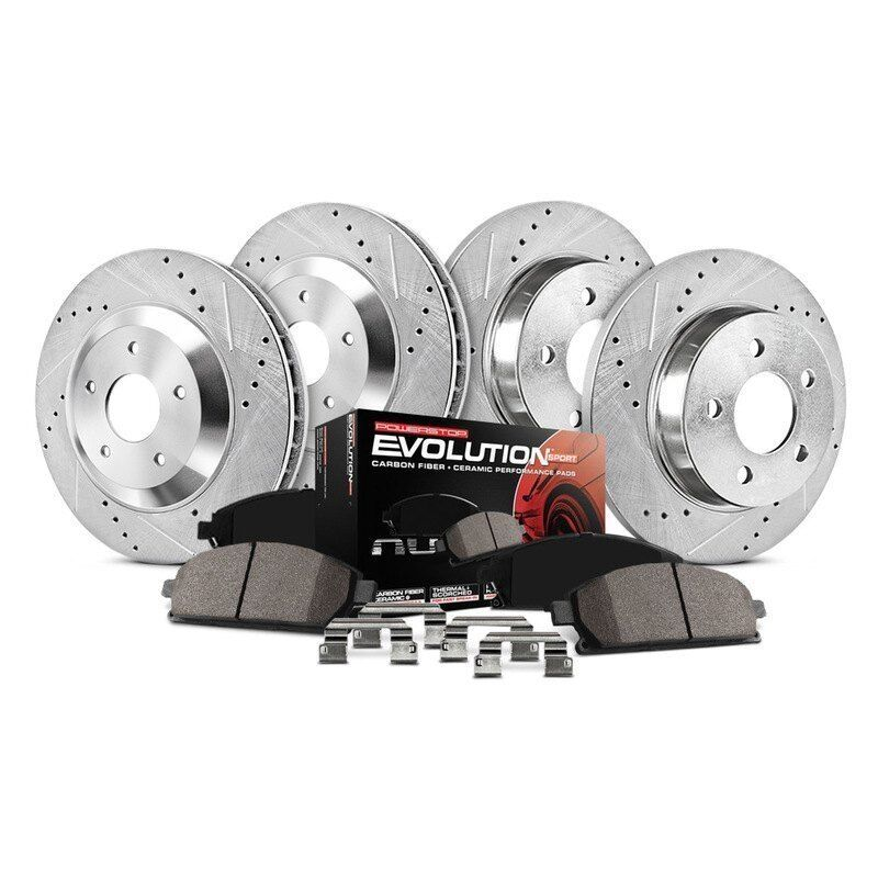 Power Stop K2369 Front Z23 Evolution Brake Kit with Drilled//Slotted Rotors and Ceramic Brake Pads