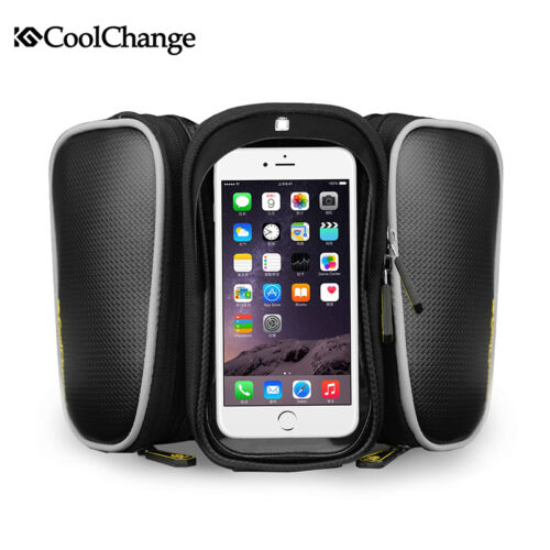CoolChange Bicycle Cycle Bike Front Tube Bag Frame Mobile Phone Bag Pouch Holder
