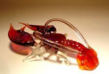 Blown Glass Figurine Art Sea Creature Dark Red LOBSTER