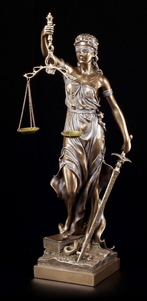 Tamaño Justicia Figura 50cm Bronceada - Diosa Regalo Abogado Derecho Veronese