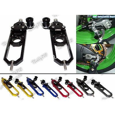 Rear Wheel Chain Adjuster with Swingarm Spool Blue Fit BMW S1000RR HP4 S1000R US