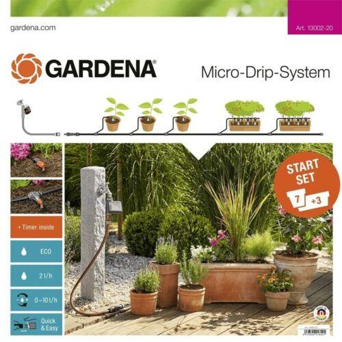 Gardena 13002-20 Micro-Drip-System Start-Set 7 Pflanztöpfe 3 Tröge M automatic