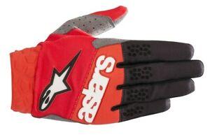 Alpinestars 2019 Mens Racefend MX Gloves White//Red//Blue