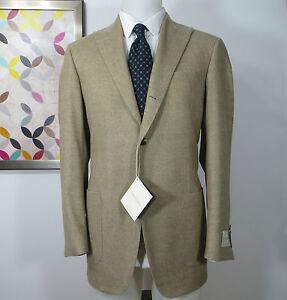 Samuelsohn-NWT-Wool-flannel-beige-herringbone-sports-coat-jacket-blazer-40-R