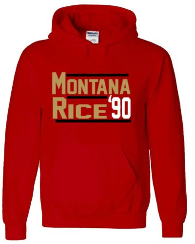 "Joe Montana Jerry Rice San Francisco 49ers /""90/"" Jersey shirt Hooded SWEATSHIRT"