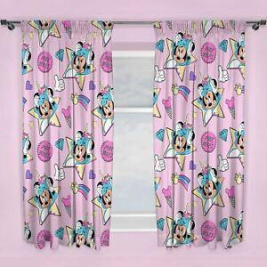 Minnie-Mouse-Licornes-Rideaux-72-034-Goutte-Rose-Filles