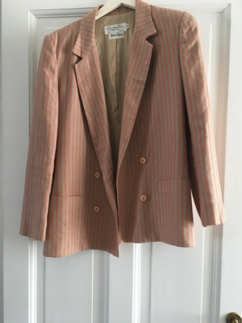 Blazer, str. 38, Dior,  Organge/beige,  Hør,  God men…