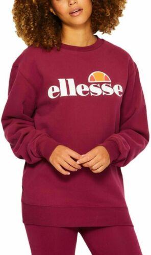 Ellesse Womens Sweatshirt Agata Boyfriend Logo Purple 12uk New