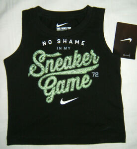 The-Nike-Tee-T-Shirt-Tank-Boy-12M-12-Month-No-Shame-in-My-Sneaker-Game-NWT
