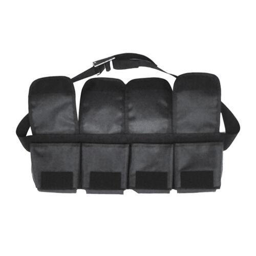 Black Adjustable Scuba Diving 4 Pocket Weight Belt Webbing Waist Strap Gear