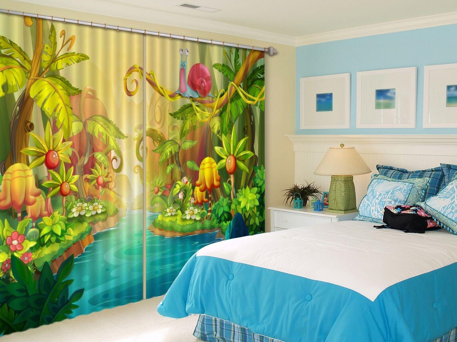 3D Flores 727 Cortinas de impresión de cortina de foto Blockout Tela Cortinas Ventana CA