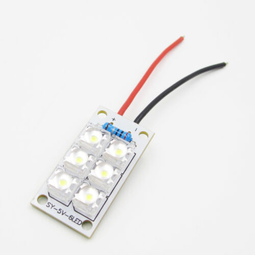 1//5PCS 5V Led Night Light Lamp Panel Board White Night Lights Lamp 6 Piranha