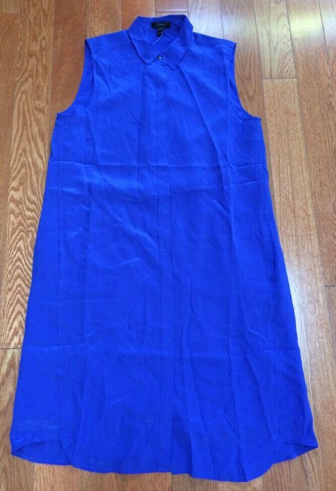 MWT J Crew Silk Sleeveless Dress size   L