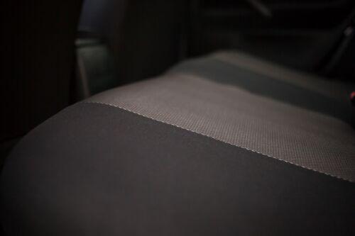 Sitzbezüge Sitzbezug Schonbezüge für Fiat Panda Dunkelgrau Sportline Komplettset