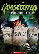 Goosebumps: Monster Blood/Night of the Living Dummy/Say Cheese and Die (DVD, 2014, 3-Disc Set)