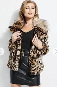 Fur 178 Phoebe Leopard Nwt Coat Jacket Faux Xs Print Gæt OTxgw