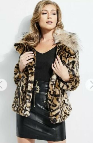 Print Leopard Fur Faux Xs Gæt Nwt 178 Coat Phoebe Jacket YnF6wqPg