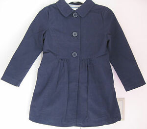 6012d9fac NWT Gymboree Girls Uniform Shop Gym Navy Blue Trench Coat Jacket 5-6 ...