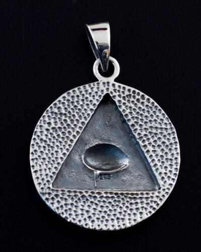 Pendentif Oeil providence Delta Bijou maçonnique Argent 925 7g K9 25397