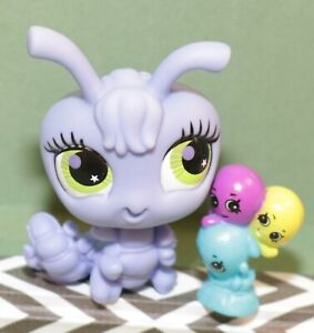 Authentic-Littlest-Pet-Shop-LPS-2779-Purple-Centipede-Caterpillar-RARE