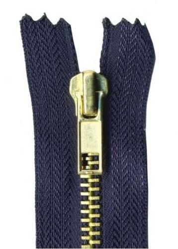18cm Ink Blue Jeans Zip