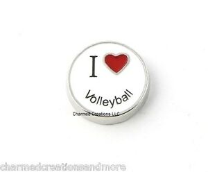I Love My Grandma Red Heart Floating Charm For Glass Memory Locket Necklaces