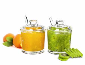 2-tlg-Marmeladendosen-Set-Parmesandose-Gewuerzdose-Honigglas-Senfdose-Zuckerdose