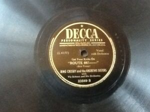 Bing-Crosby-amp-The-Andrews-Sisters-034-Get-Your-Kicks-On-route-66-034-DECCA-78