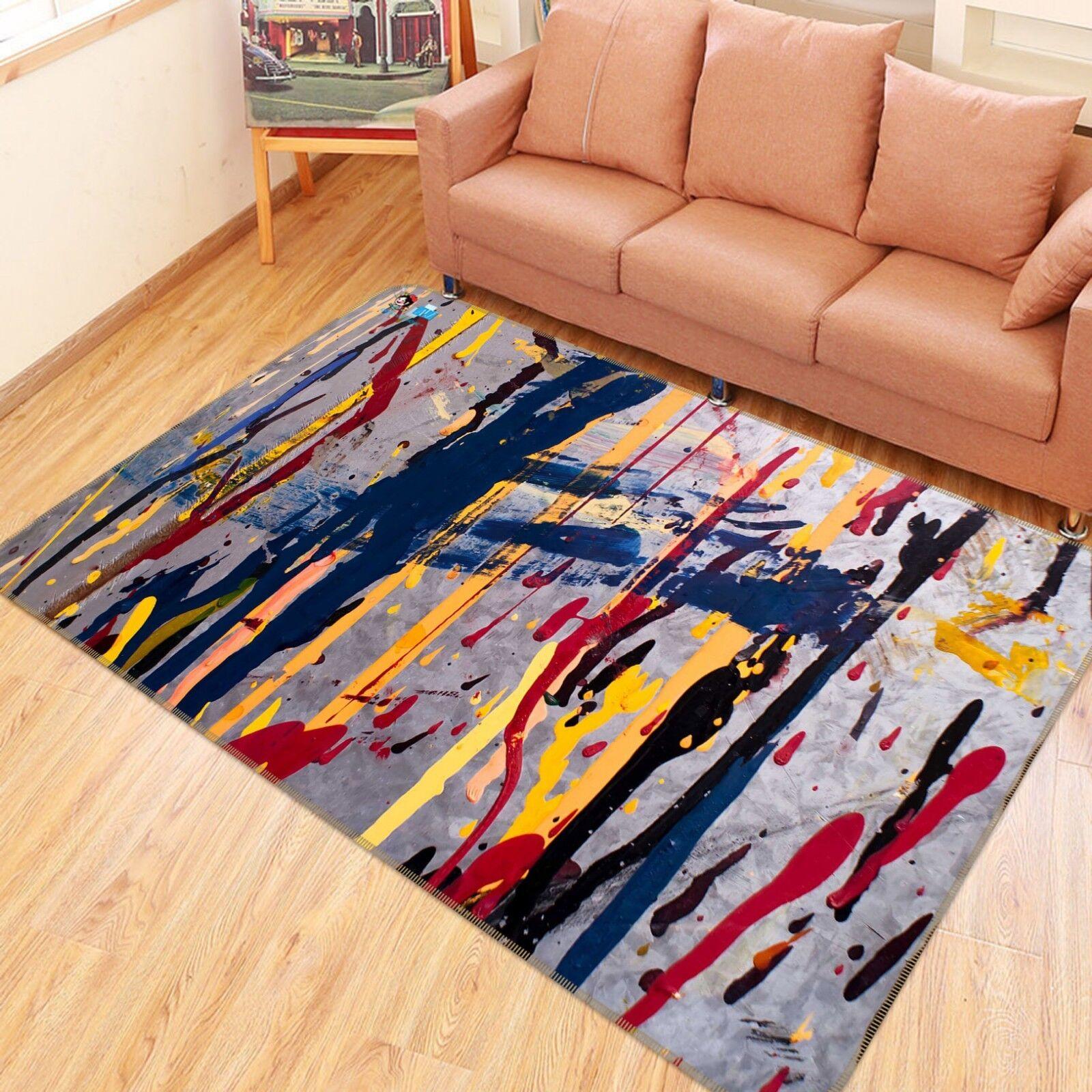 3D Mush Up Paint 289 Non Slip Rug Mat Quality Elegant Photo Carpet US Cobb
