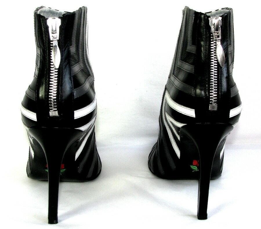 FREE LANCE Stiefletten ITLYS ITLYS ITLYS 9 Leder Kalb grau schwarz weiß 37 8535ea