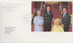 First-Day-Cover-HM-The-Queen-Mother-The-100th-Year-postmarked-Edinburgh-2000