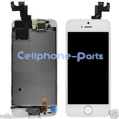 iPhone 5s LCD Screen + Digitizer, Bezel Frame, Front Camera & Home Button White