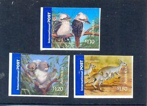 Simple Australie-bush Wildlife Autocollante Lot De 3 Neuf Sans Charnière (2527-9)-afficher Le Titre D'origine MatéRiaux De Haute Qualité
