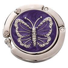 Purple Butterfly Purse Handbag Hook Folding Hanger LW