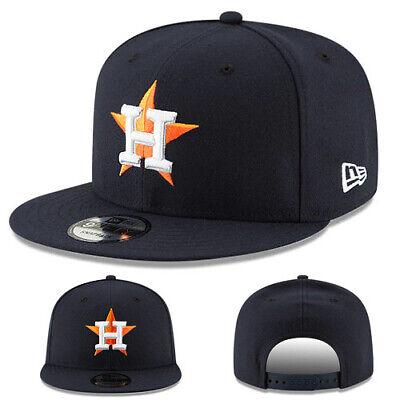 New Era Mlb Houston Astros Snapback Cappello Dom Basic Gioco Tappo Made In Usa Texture Chiara
