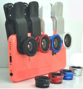 3in1 180 FishEye Wide Angle Micro Photo Lens Zoom Camera Kit for iphone phone