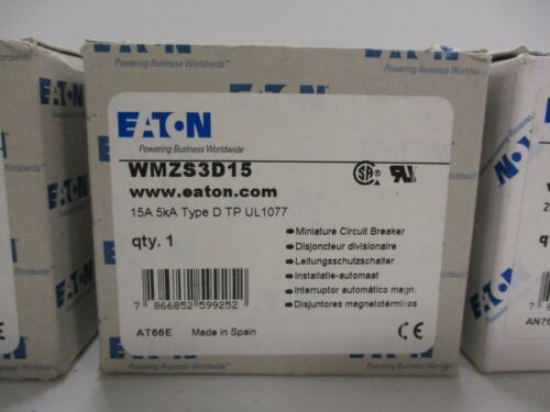 EATON WMZS3D05 WMZS3D15 WMZS3D20 3 POLE CIRCUIT BREAKER