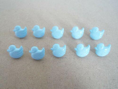 10 X Lindo Bebé Pato Azul Novedad botones de vástago de plástico F19