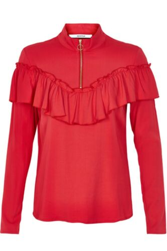 'hanne Top Ruffle Blouse Women's Red Gestuz 4qwZxIttWB