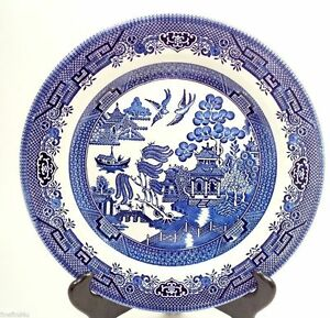 Image Is Loading 2 Churchill Blue Willow China England 10 3