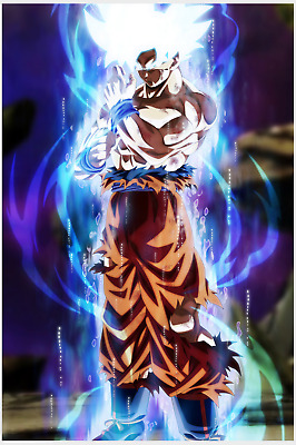 Dragon Ball Super Poster Goku Ultra Instinct and Red 12inx18inches Free Shipping