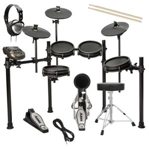 alesis nitro mesh electronic drum set drum essentials bundle ebay. Black Bedroom Furniture Sets. Home Design Ideas