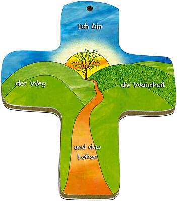 """die Wahrheit und das Leben/"""" Wand-Kreuz /""""Ich bin der Weg"""
