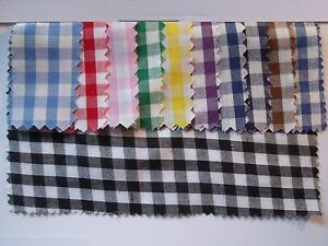 Gingham-POLYCOTTON-FABRIC-blue-Red-Pink-Yellow-Green-Purple-Navy-Green-Black-1-4